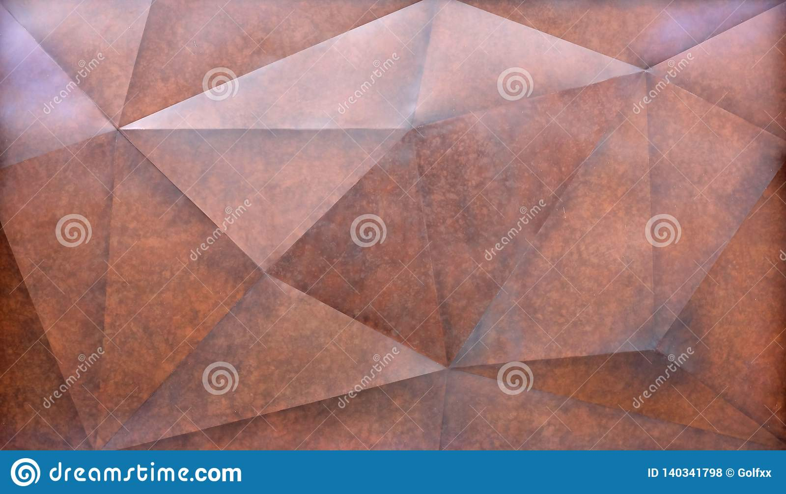 Abstract brown polygonal Geometric Triangle wall Background