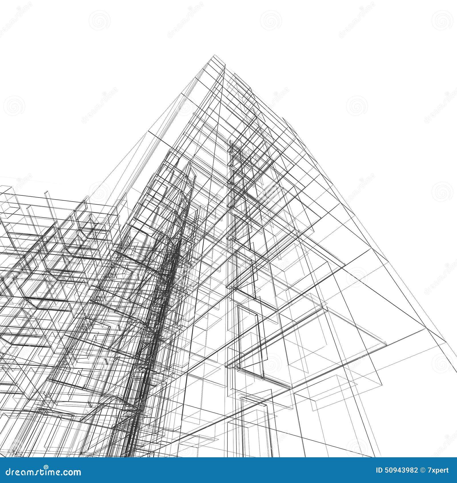 Abstract building stock illustration image of engineering - Architektur zeichnen ...