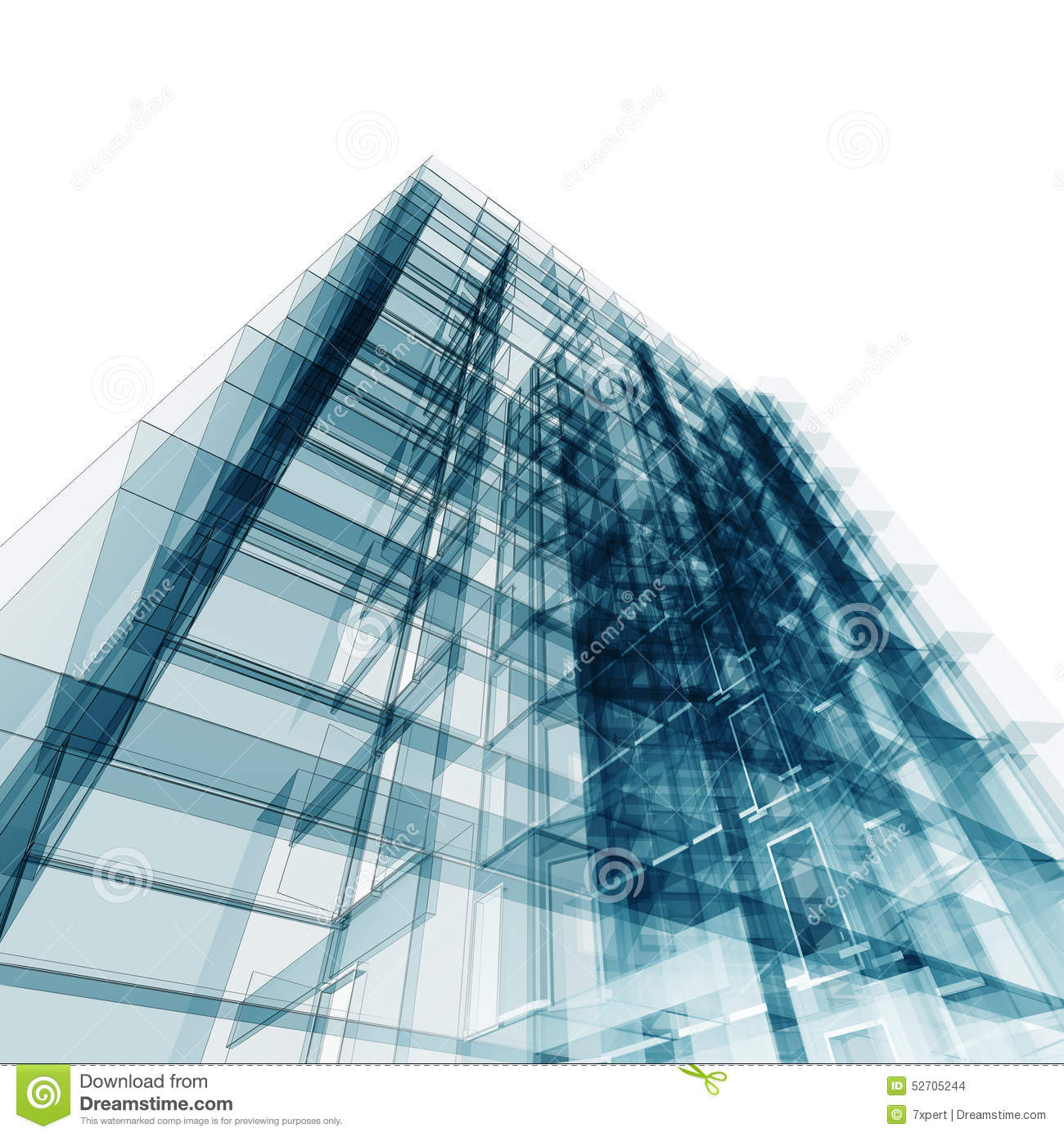 Picture Book Illustration Making An Architectural Model: Abstract Building Stock Illustration. Illustration Of