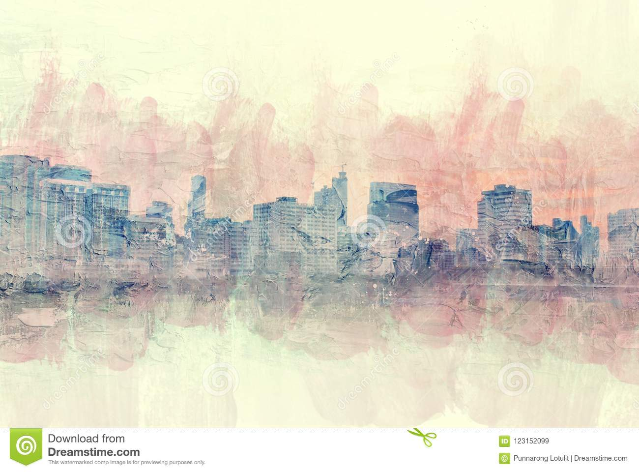Art Watercolor Painting Background