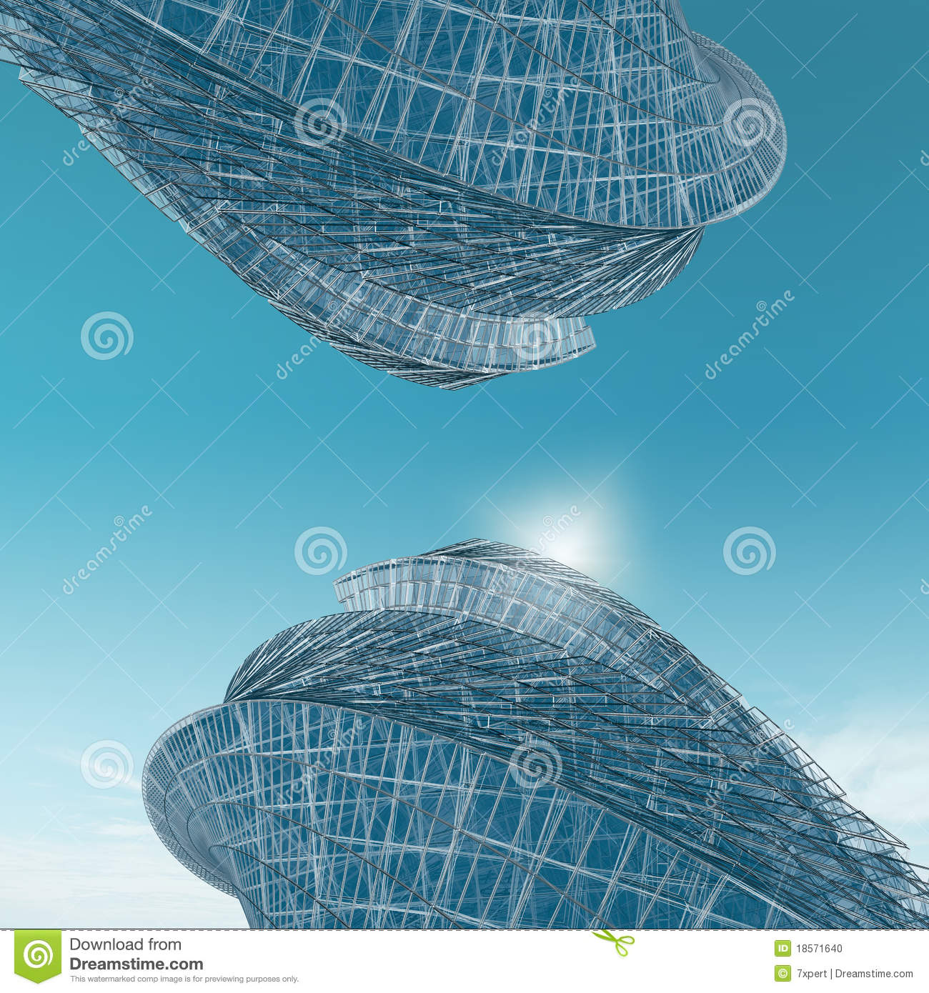 Abstract Buildings Opposite Stock Photo