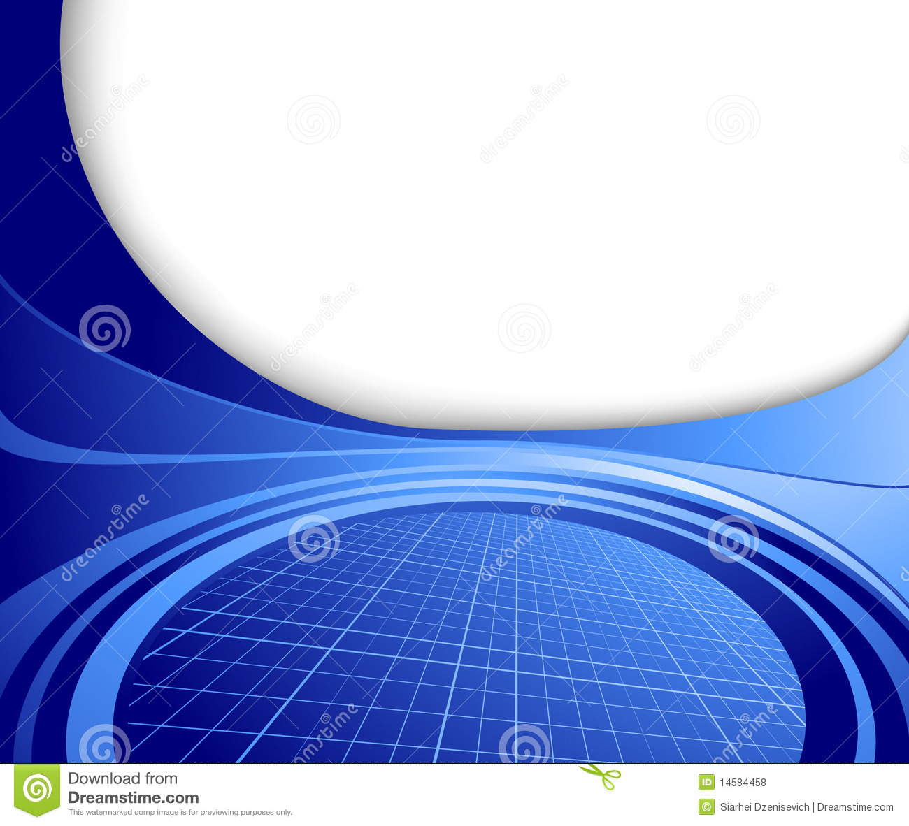 Blue Technology: Abstract Business Blue Hi-tech Template Royalty Free Stock