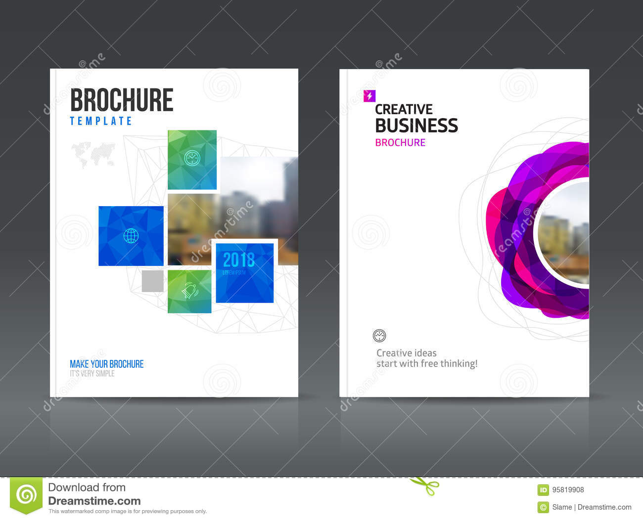 Abstract Business Brochure Design Vector Template In A4 Size