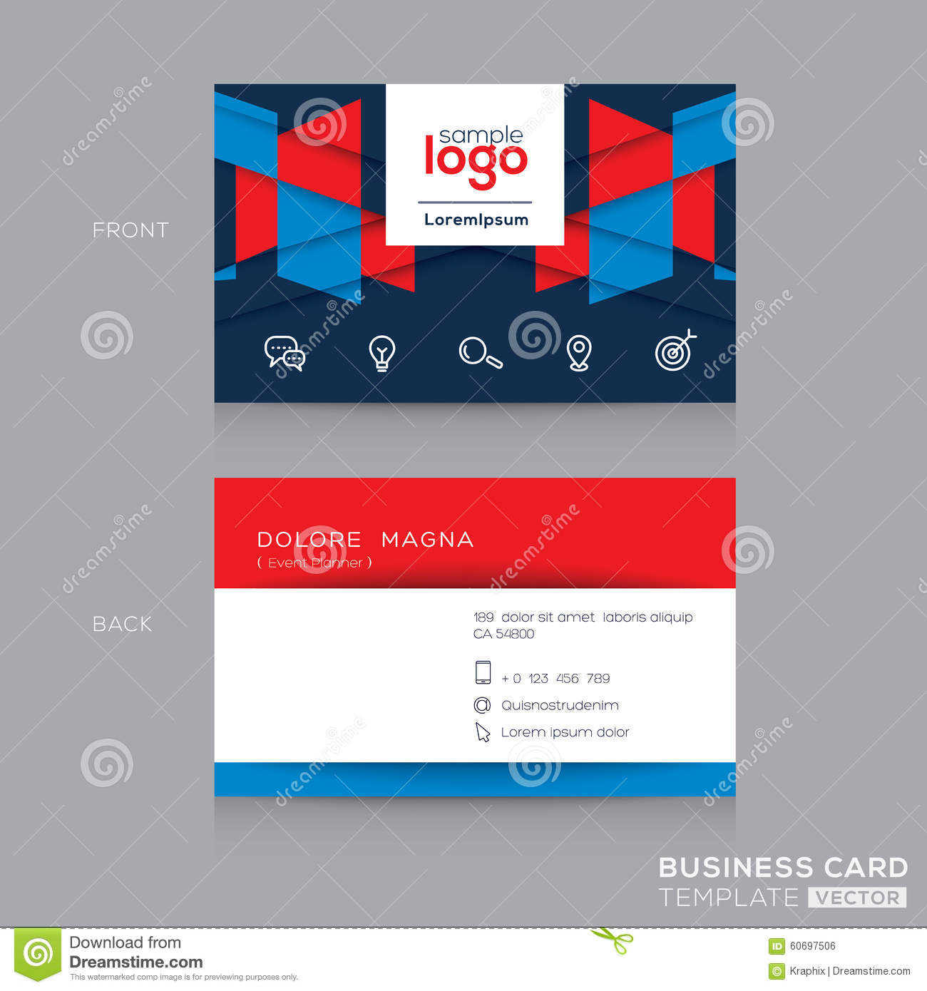 Abstract business card design template stock vector illustration abstract business card design template accmission Gallery