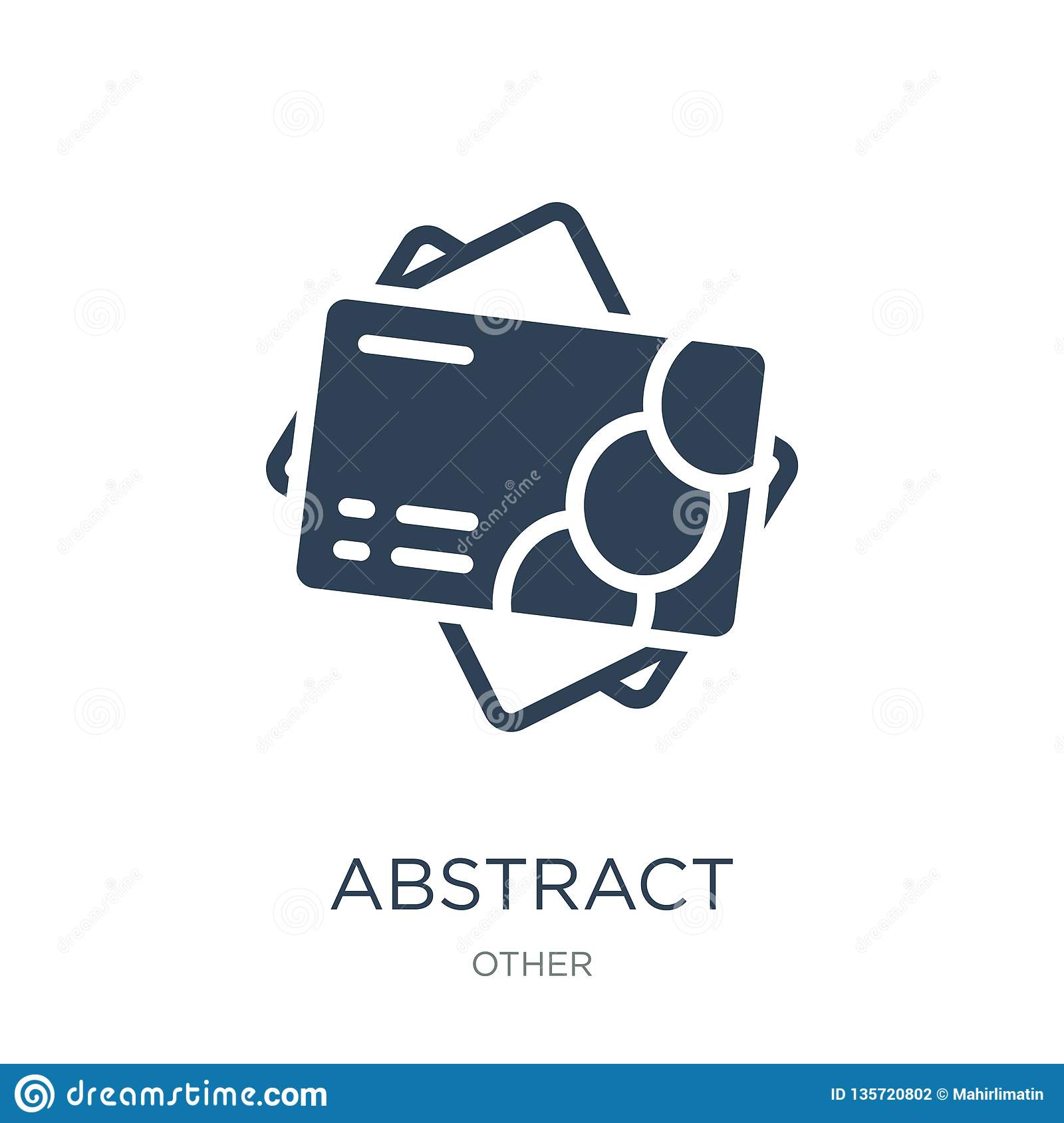 abstract business card icon in trendy design style. abstract business card icon isolated on white background. abstract business