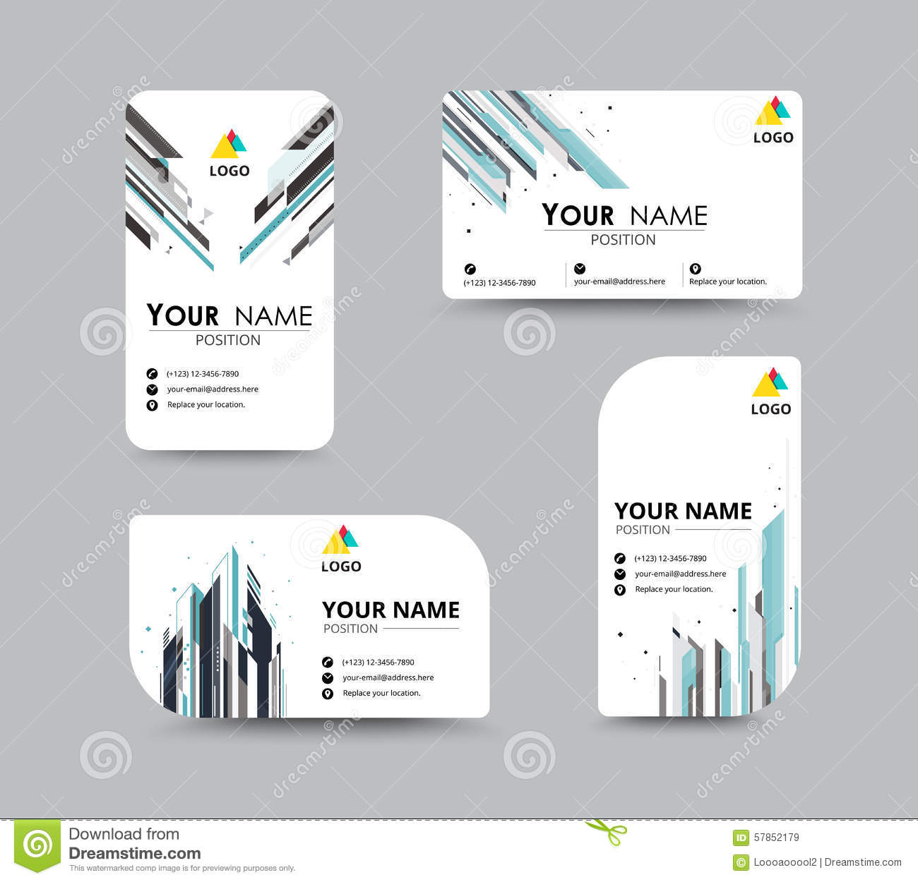 Abstract business card template with sample name position city abstract business card template with sample name position city colourmoves