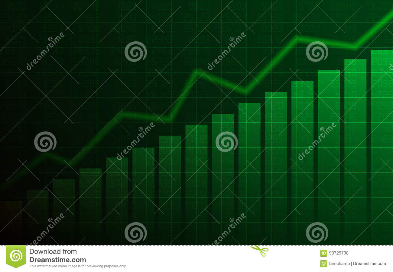 Abstract Business Chart With Uptrend Line Graph, Bar Chart And Stock ...