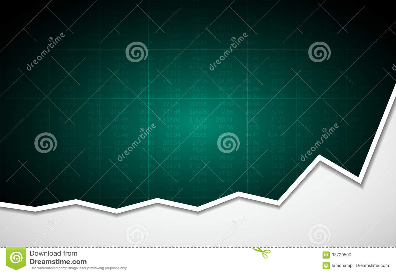 Abstract Business Chart With Uptrend Line Graph And Stock Numbers On ...