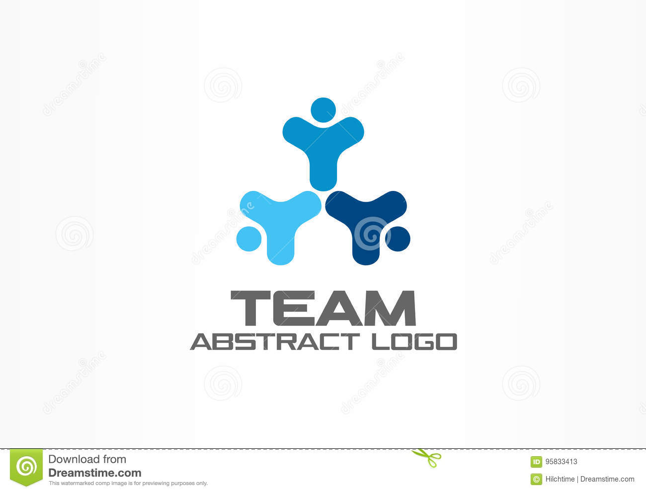Abstract business company logo. Corporate identity design element. Teamwork, Social Media Logotype idea. Happy people