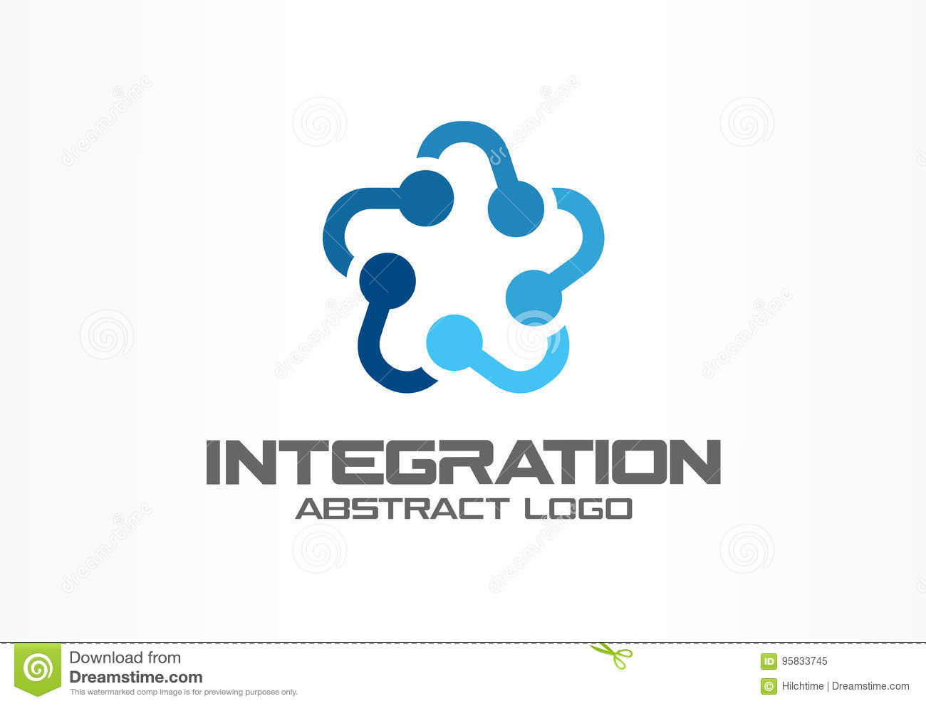 Abstract business company logo. Social media, internet, people connect logotype idea. Star group, network integrate