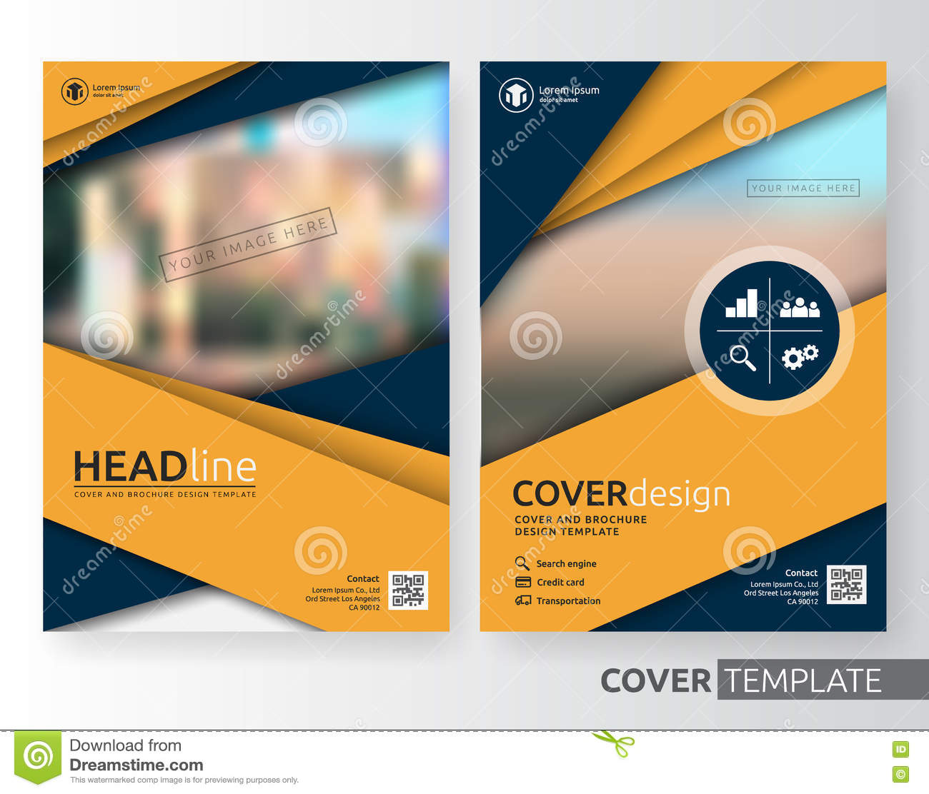 Abstract Business And Corporate Cover Design Stock Vector