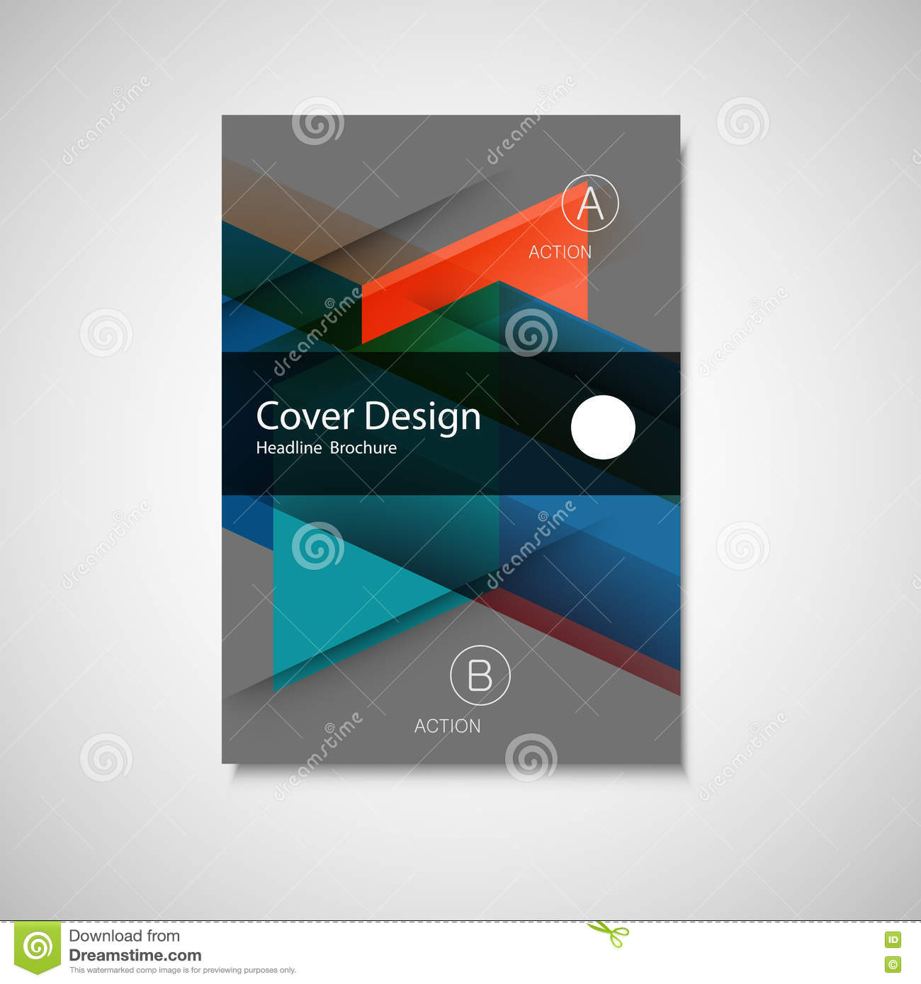 Simple Book Cover Page : Style template abstract background book cover cartoon