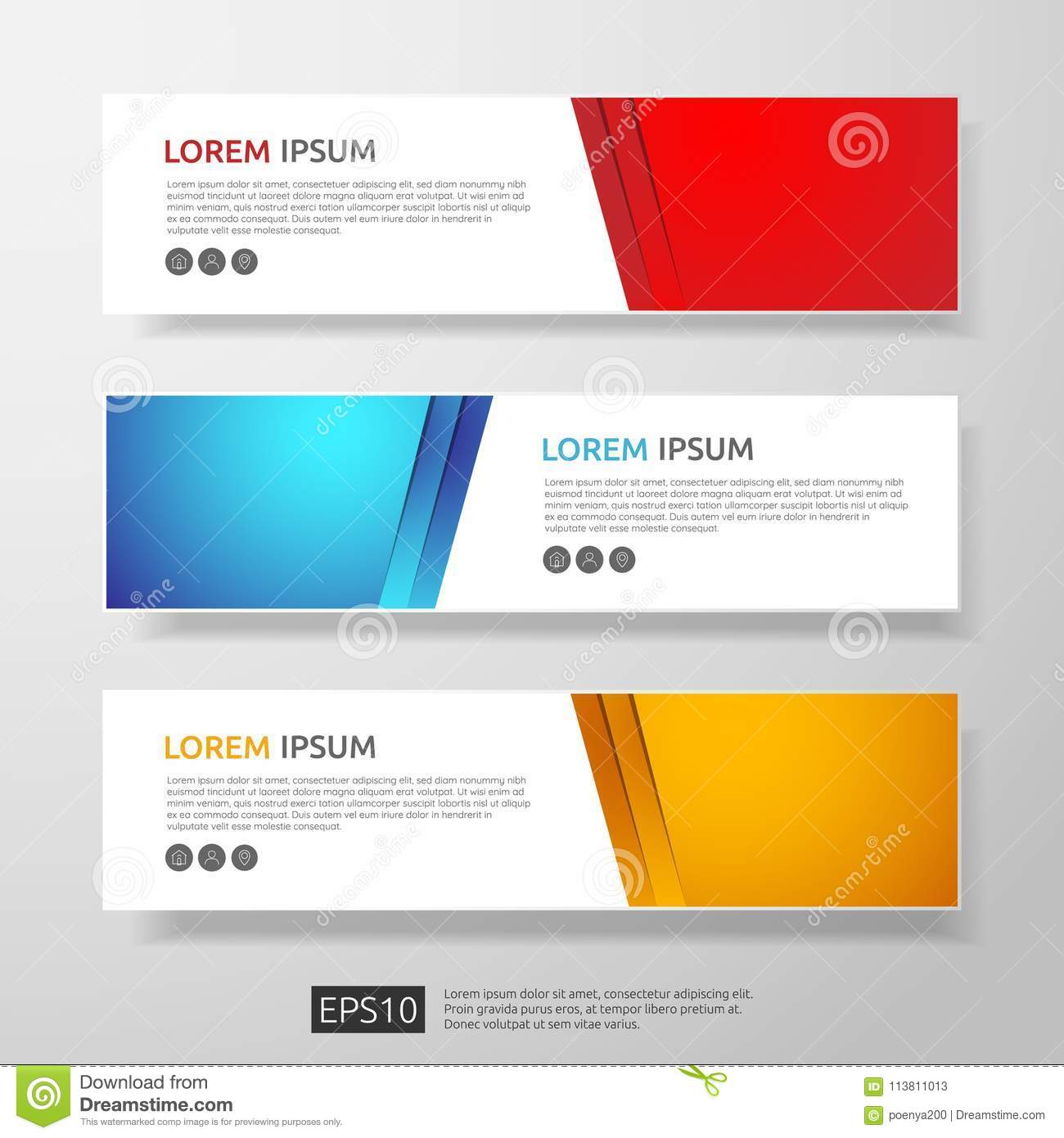 Abstract business header or banner template set with geometric abstract business header or banner template set with geometric shapes illustration flashek Gallery