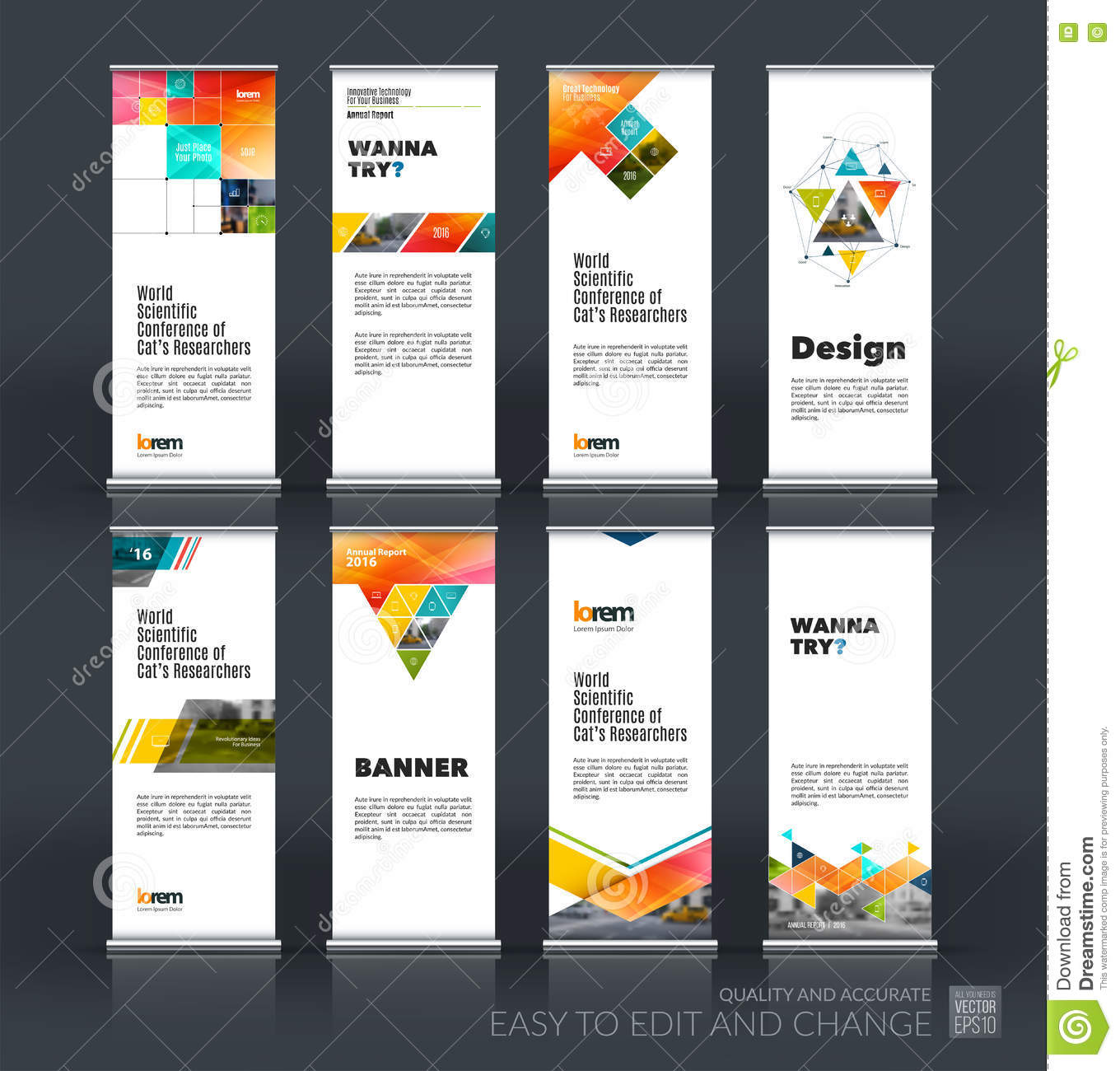 Abstract Business Vector Set Of Modern Roll Up Banner Stand Desi - Car show display board template
