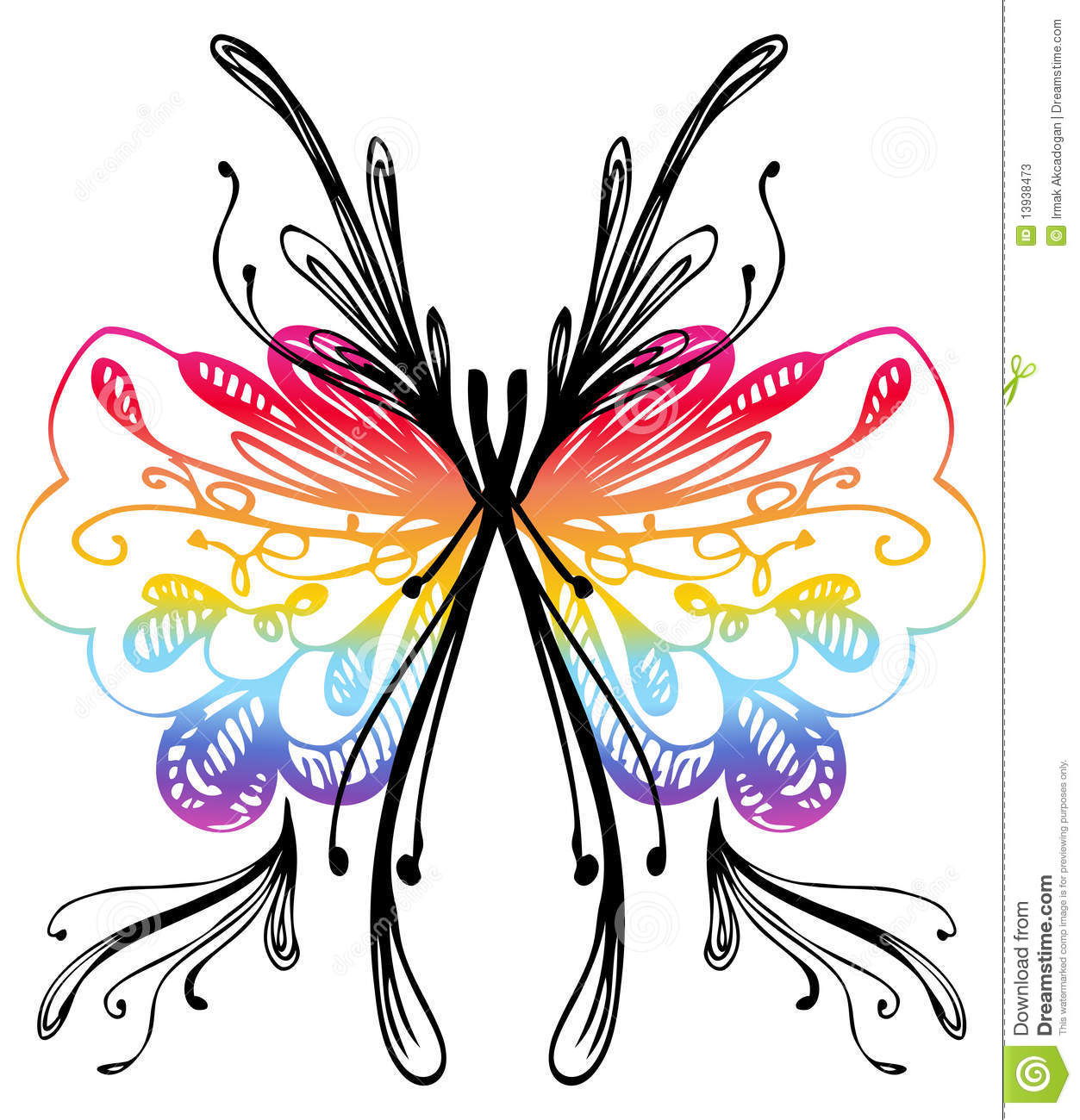Abstract Butterfly Drawing Stock Photos Image 13938473