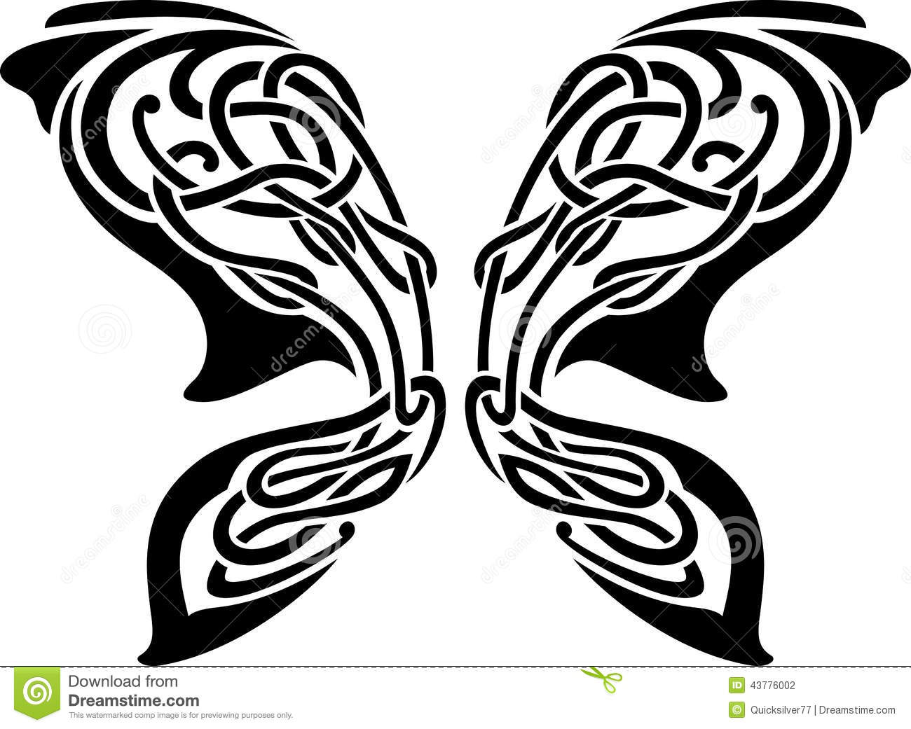 abstract butterfly tattoo stock illustration illustration of celtic 43776002. Black Bedroom Furniture Sets. Home Design Ideas