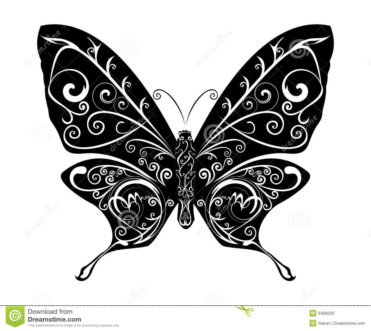 Abstract Butterfly Vector Royalty Free Stock Photo - Image: 6408295
