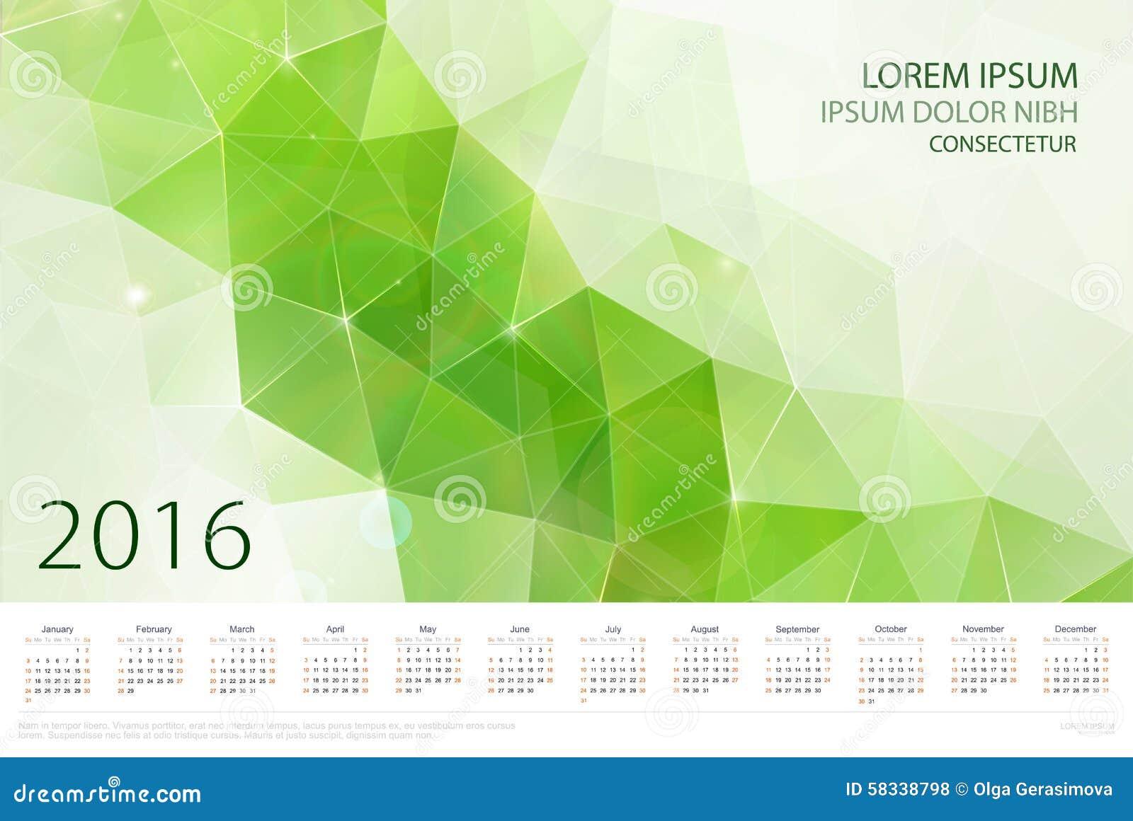 Calendar Background Vector : Abstract calendar vector background stock