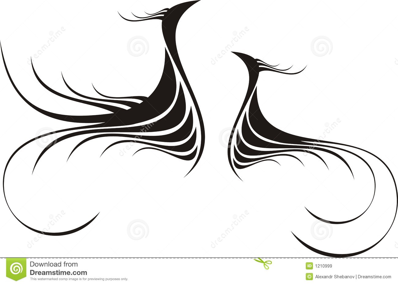 Abstract Calligraphy Decorative Stock Vector Image 1210999