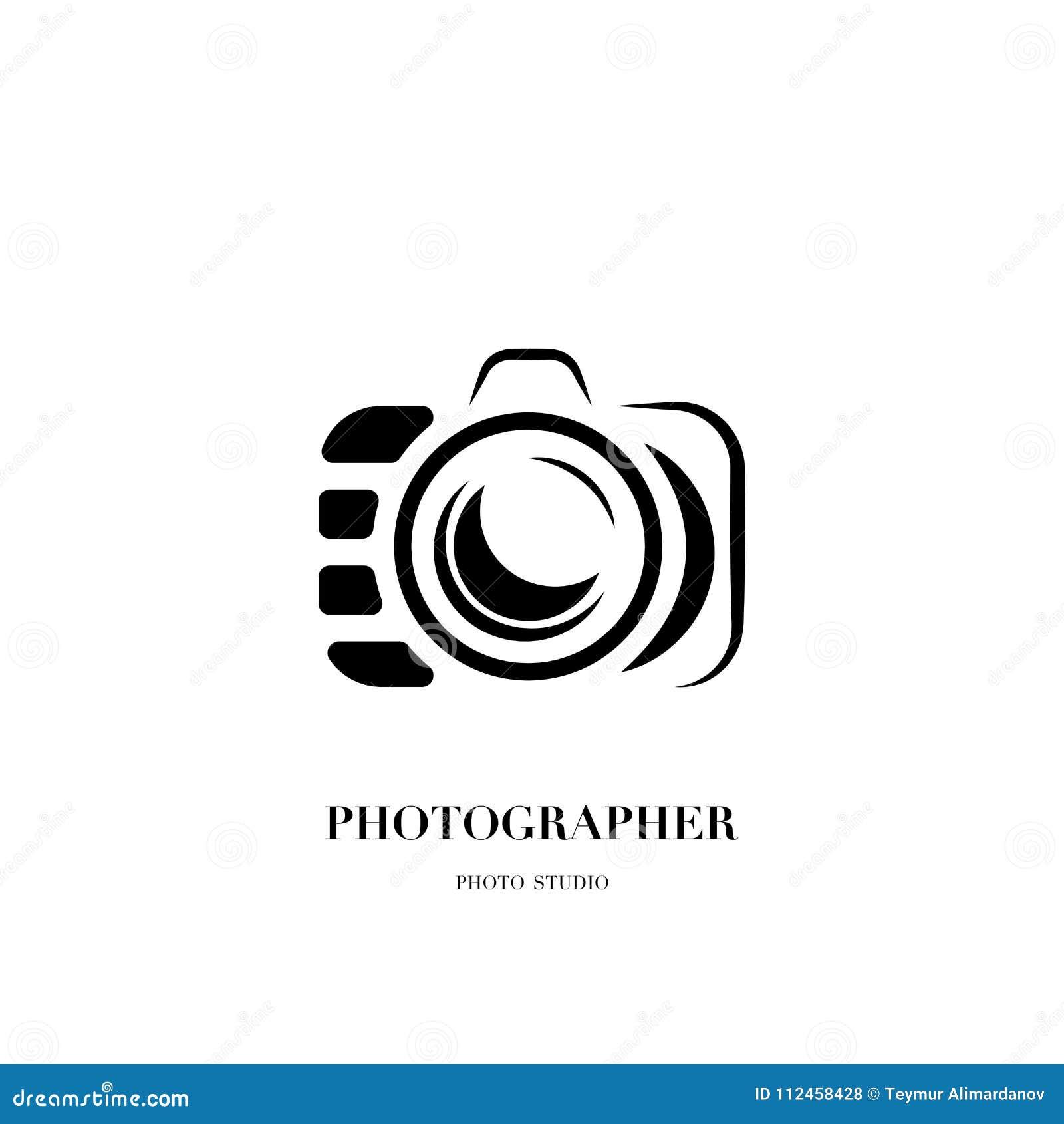 abstract camera logo vector design template for