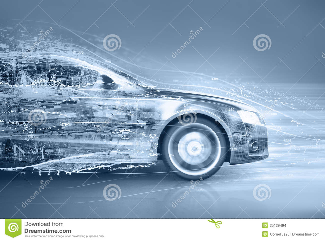 Abstract Car Stock Ilration Image Of Drawing Fire 35139494