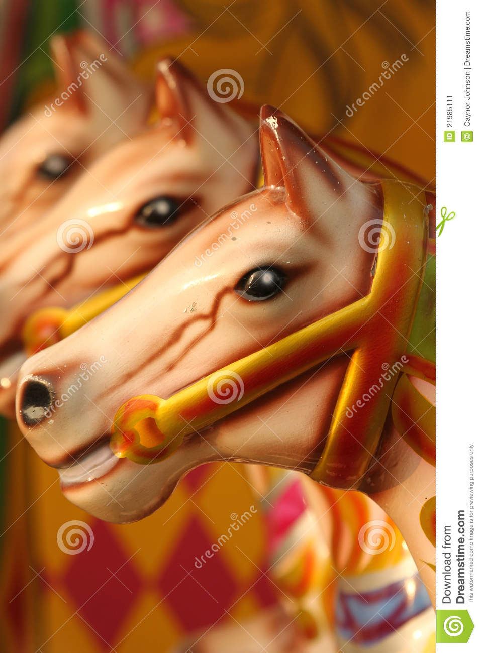 Abstract carousel horses