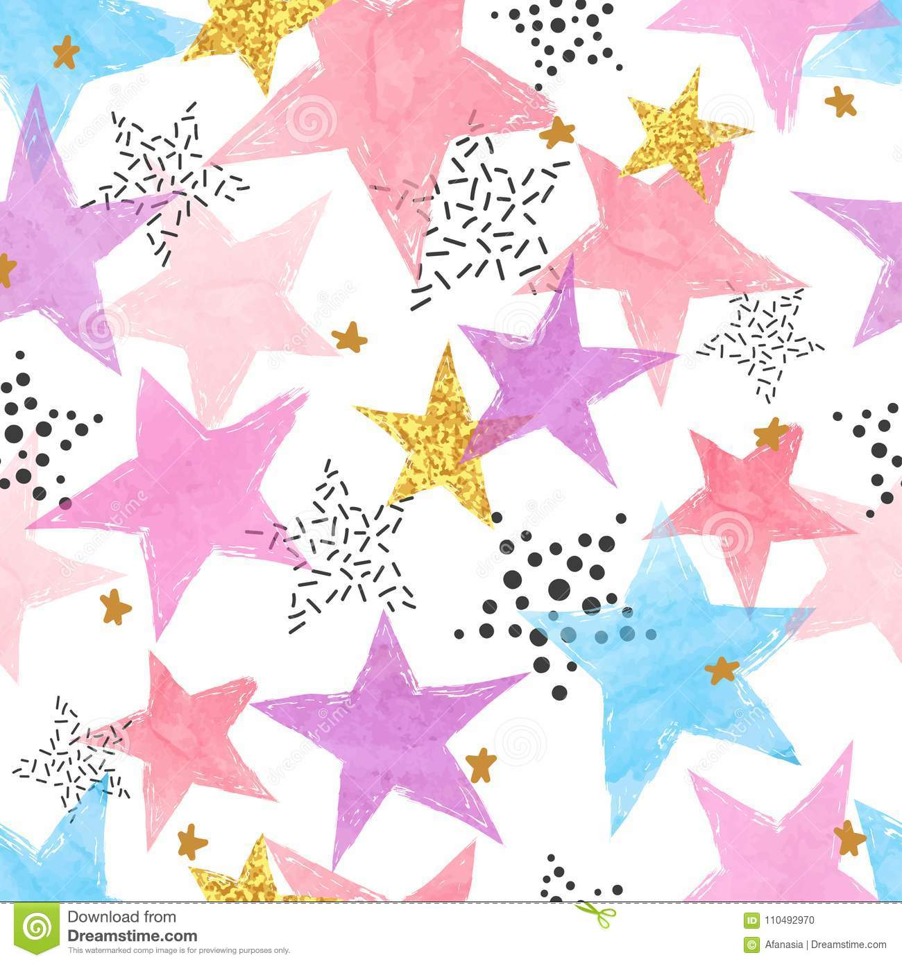Abstract celebration background with watercolor stars