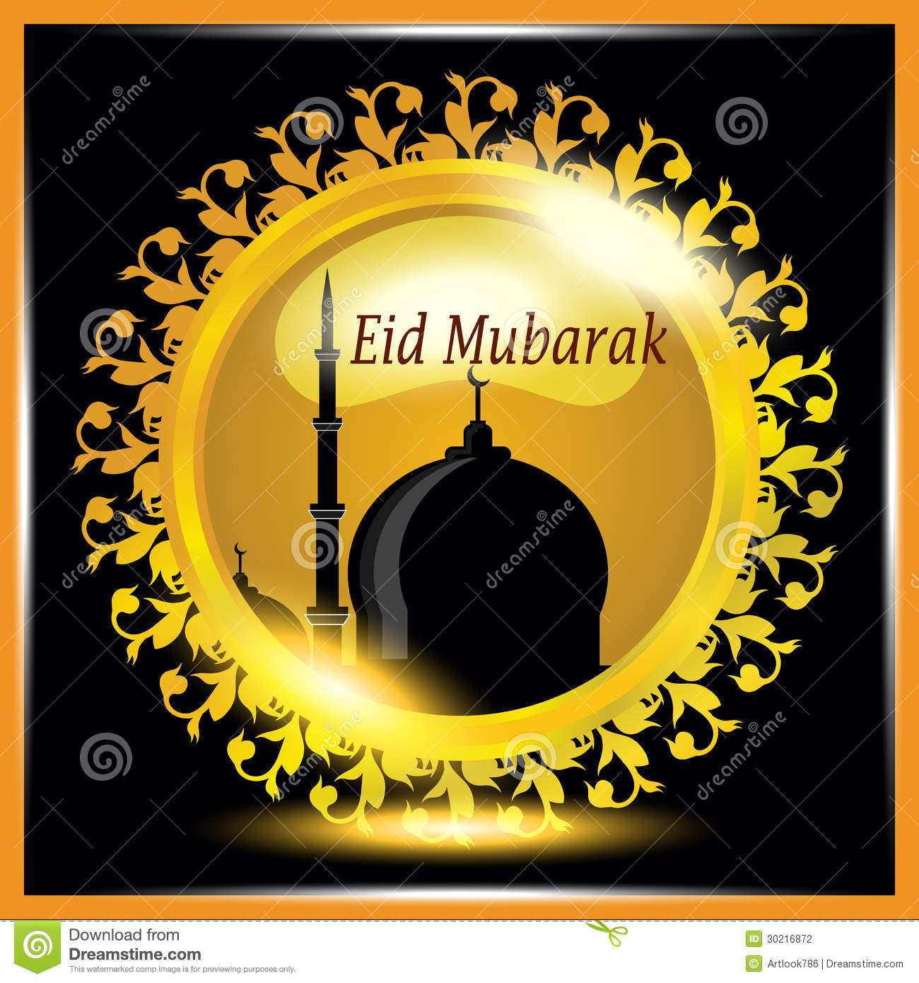 Islamic greetings card for eid mubarak stock illustration islamic greetings card for eid mubarak m4hsunfo