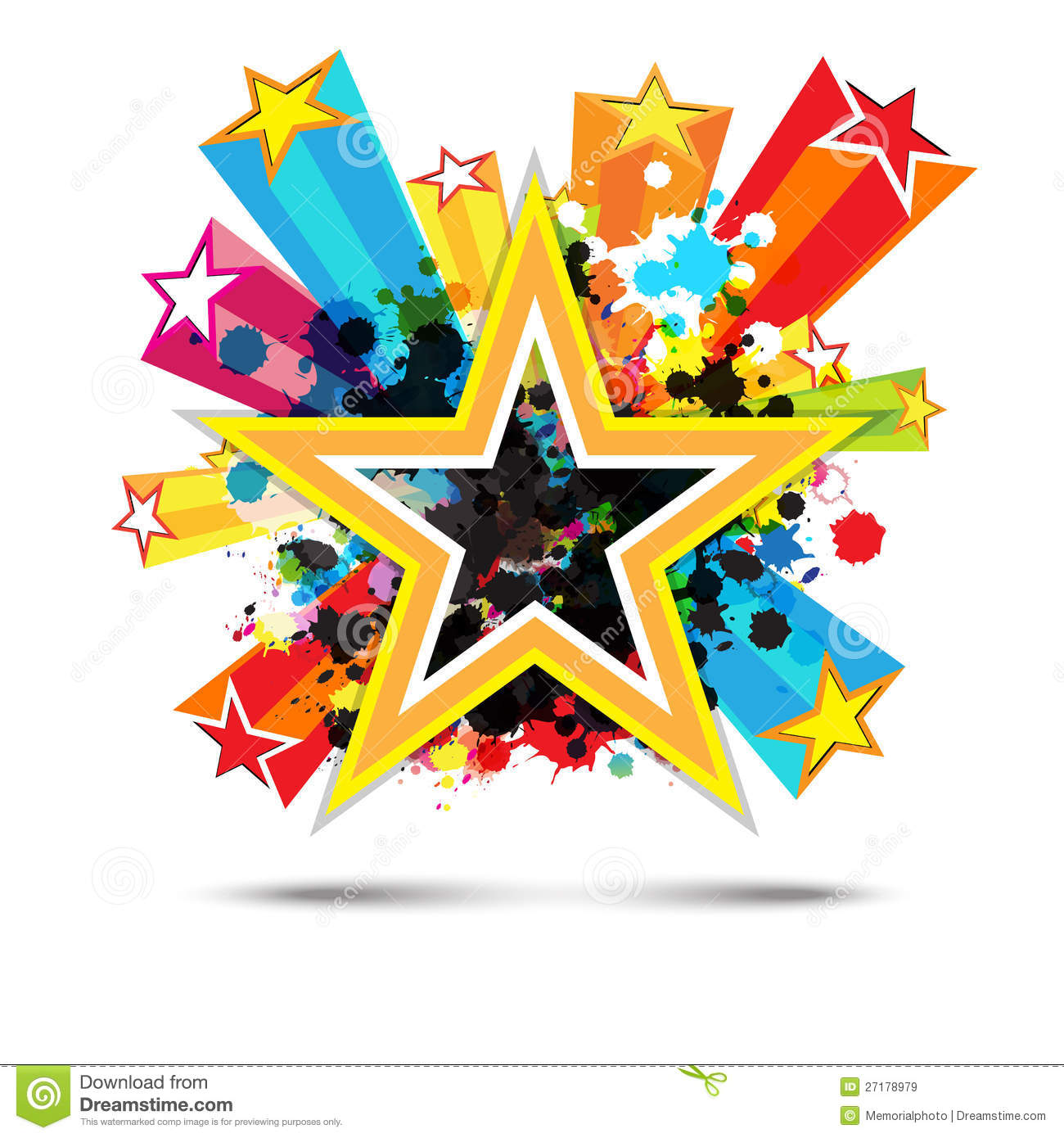Abstract Celebration Star Background Royalty Free Stock Images - Image ...