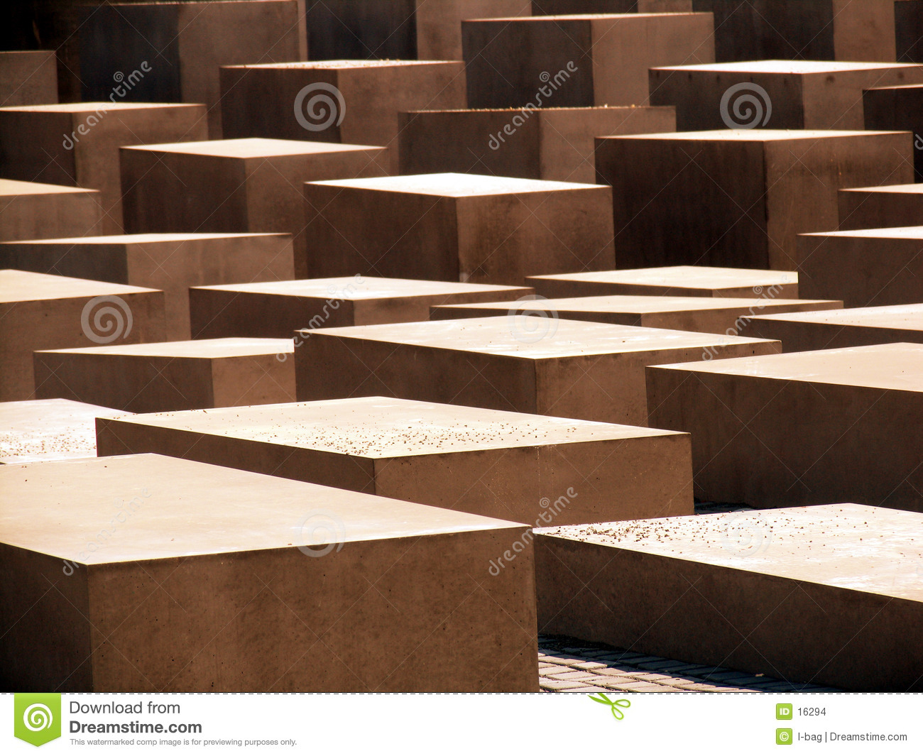 Abstract cement cubes