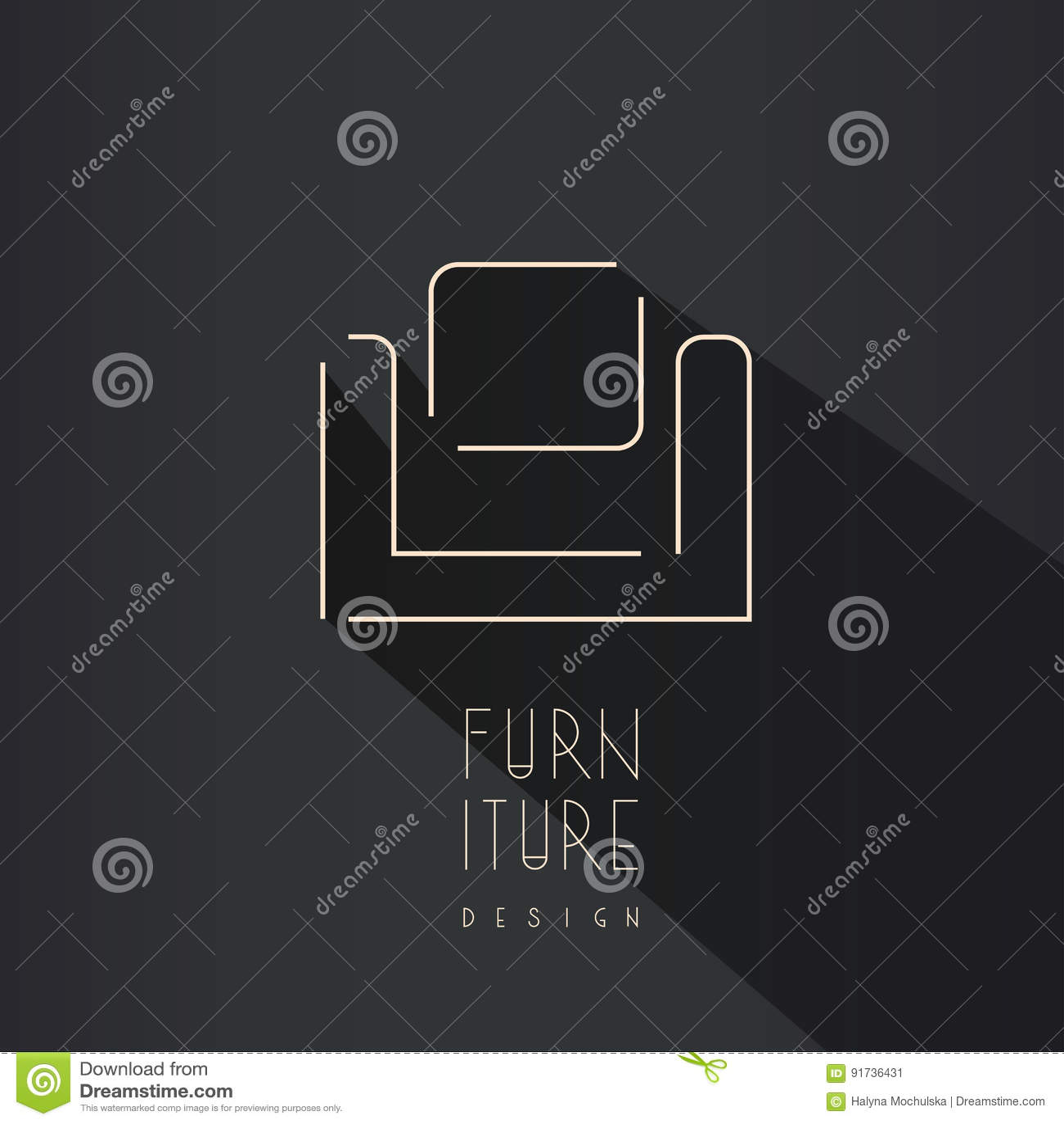 Abstract Chair Symbol - Creative Furniture Logo Design. Stock Vector ...