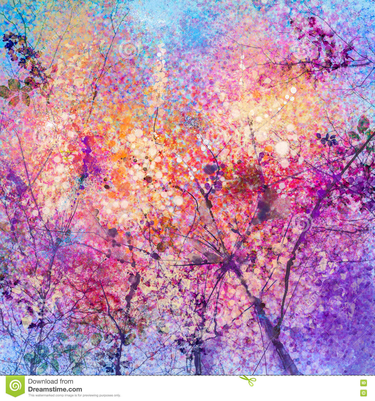 Images Of Cherry Blossom Tree Paintings