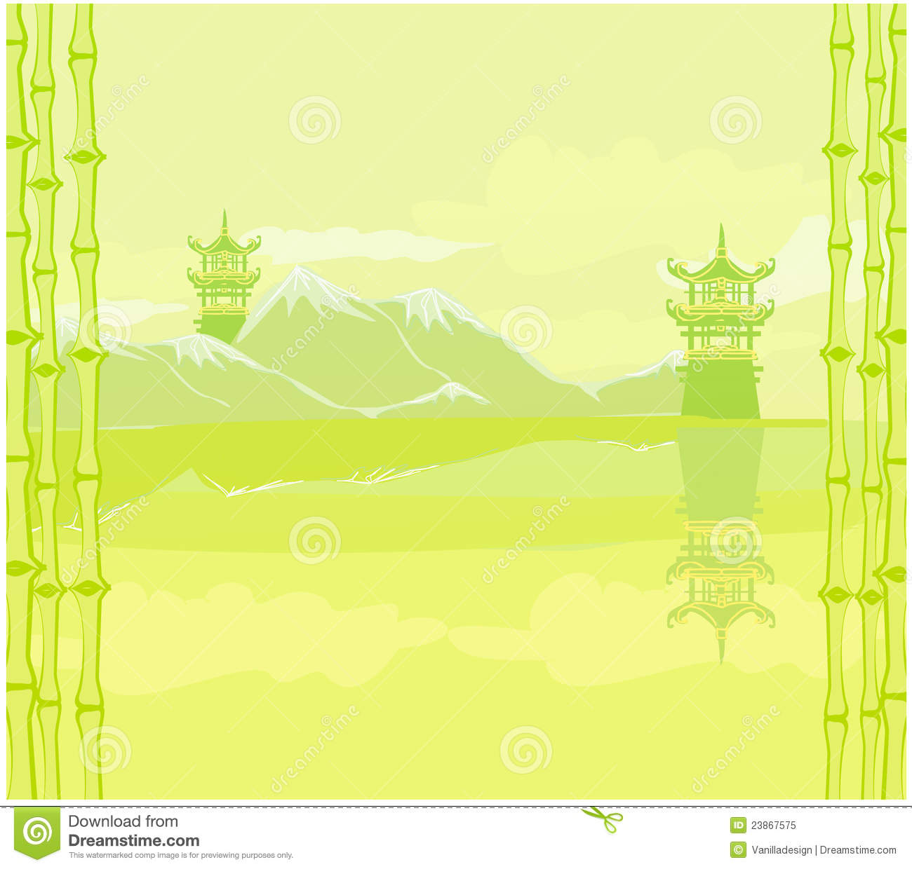 Abstract Chinees landschap