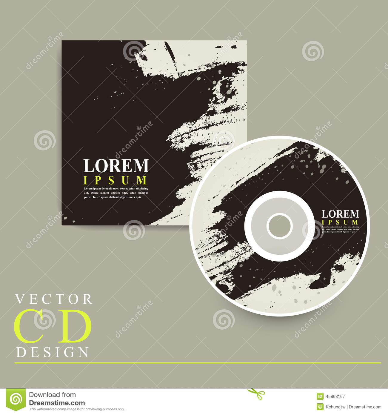 Abstract Chinese Calligraphy Design For Cd Cover Stock Vector