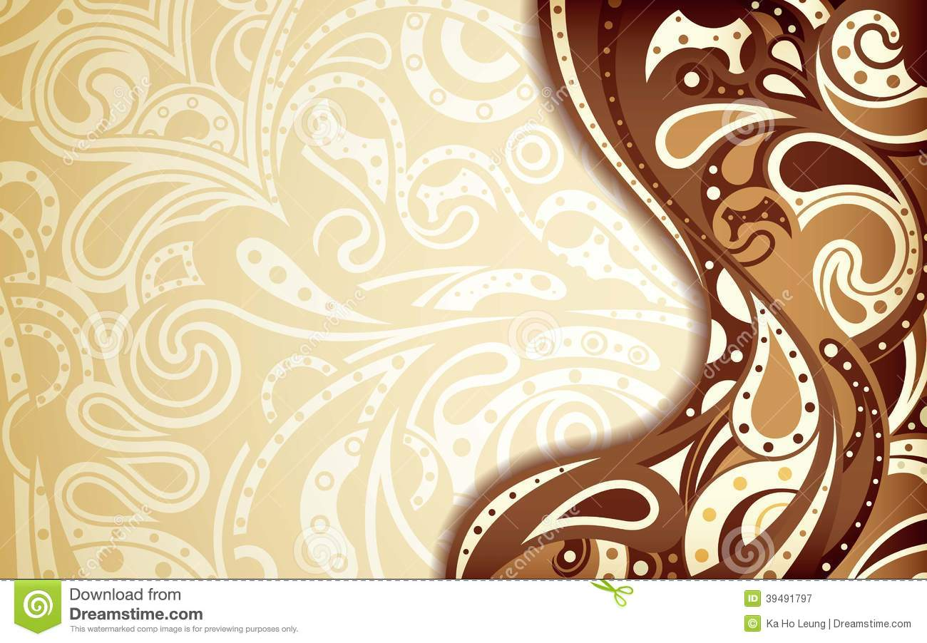 abstract chocolate curve background stock illustration