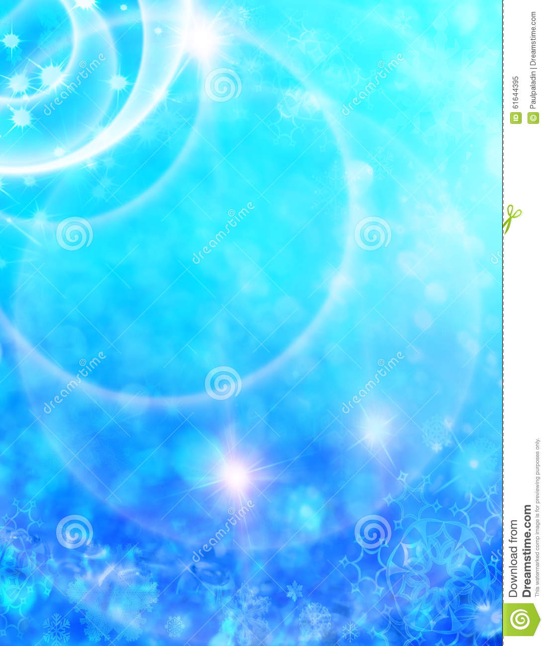 abstract christmas background with shiny stars snowflakes in blue and white color new year lights starry sky