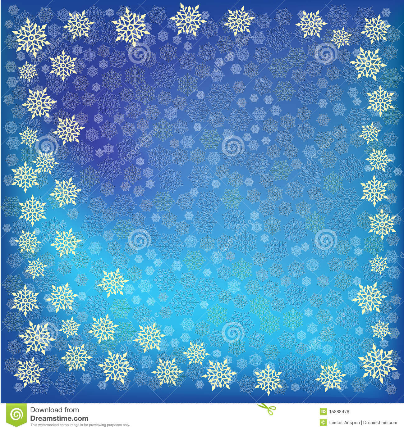 Abstract christmas blue Snowflakes background