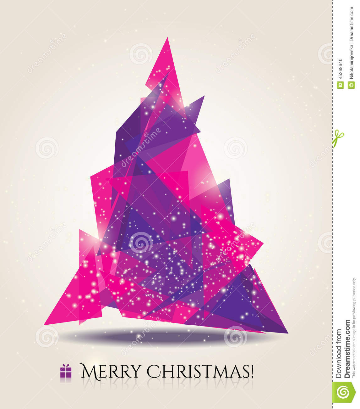 abstract christmas card with modern elements stock vector