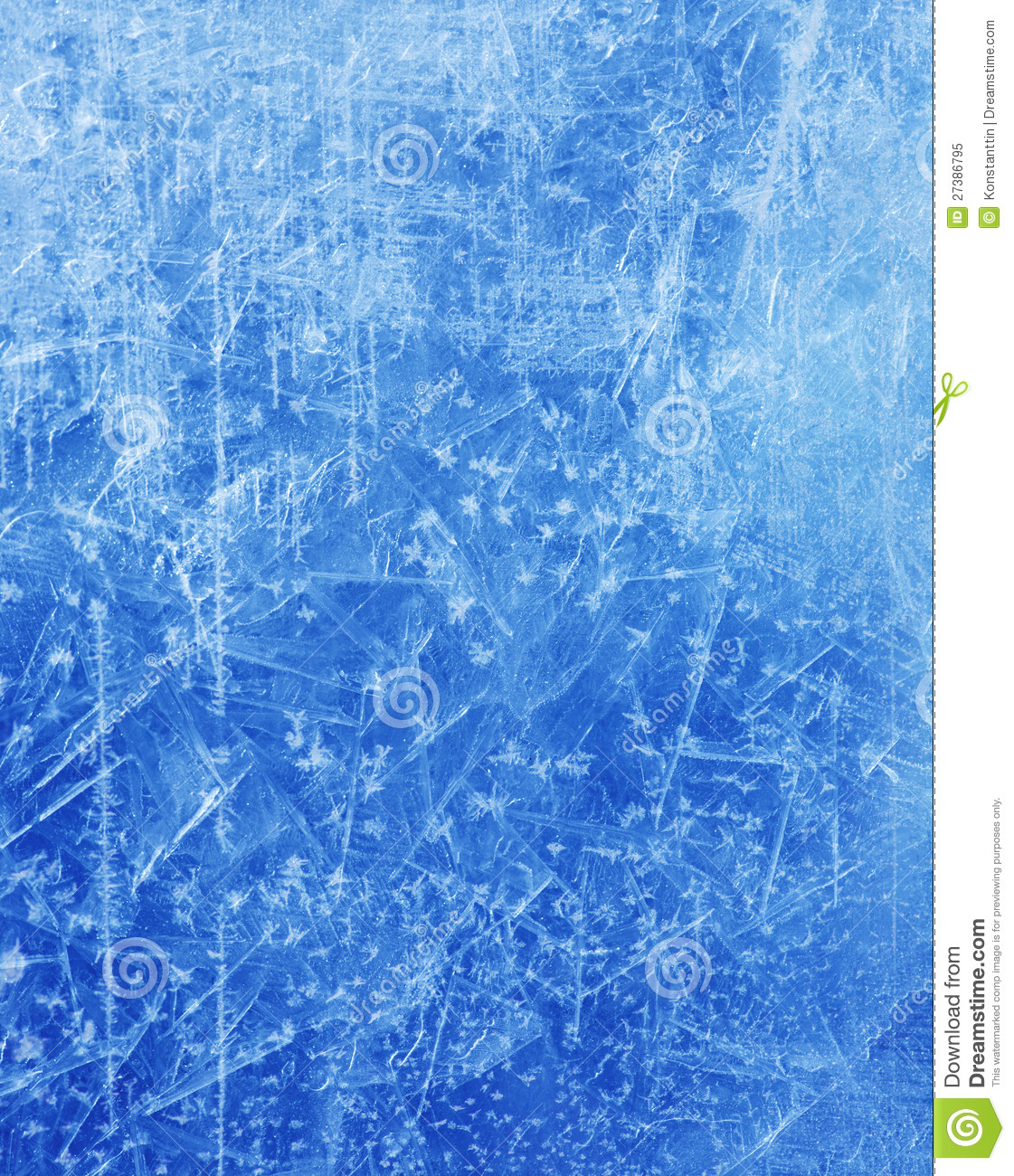 Abstract Christmas Ice Texture Winter Background Stock