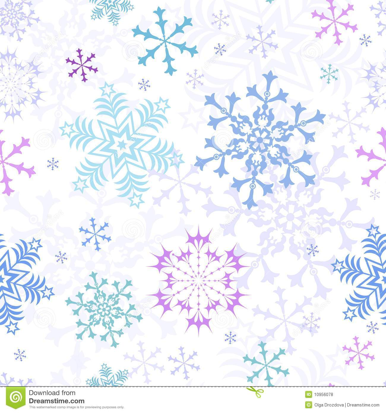Abstract Christmas Pastel Seamless Pattern Royalty Free