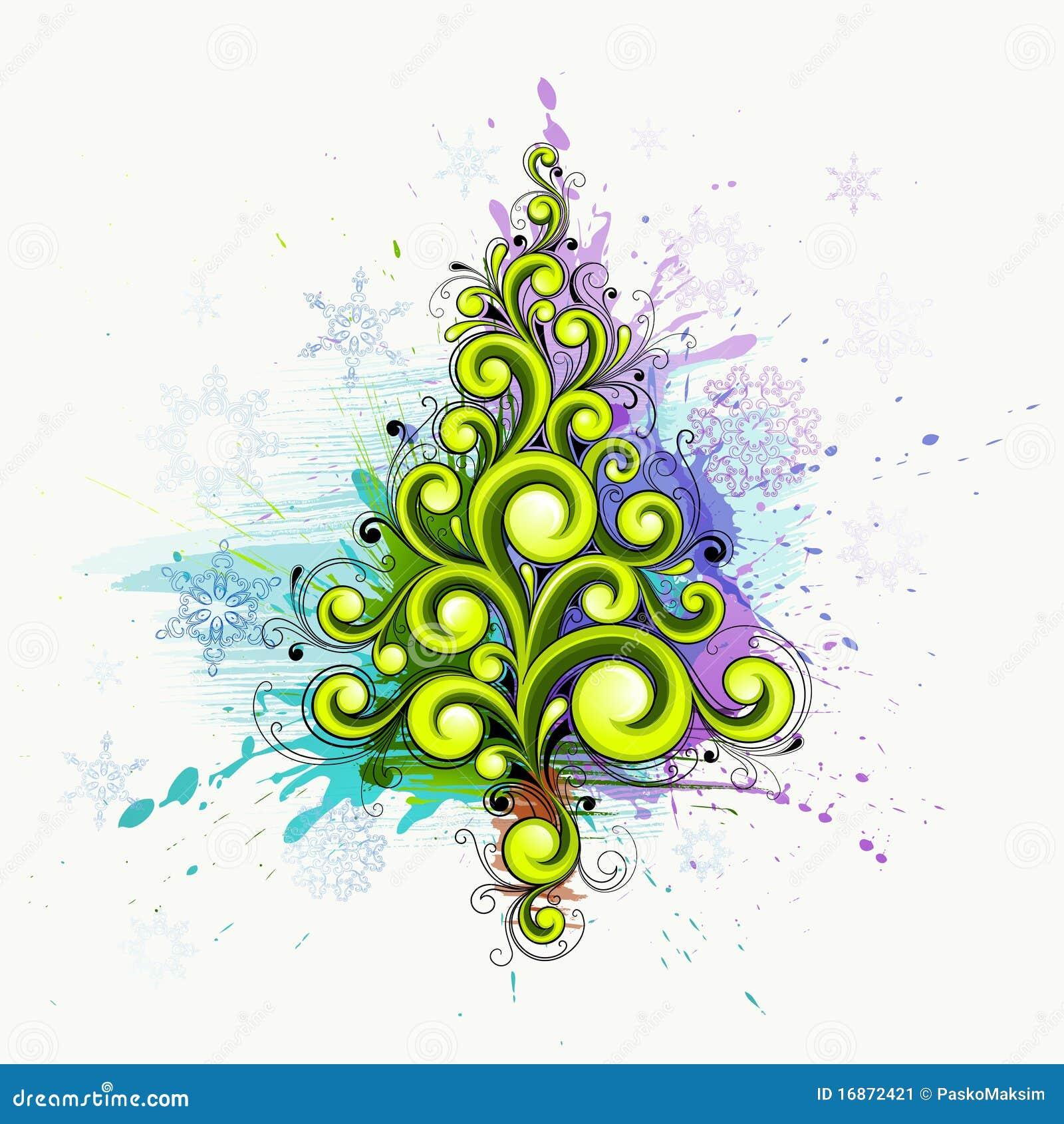 Abstract Christmas Tree Stock Image - Image: 16872421