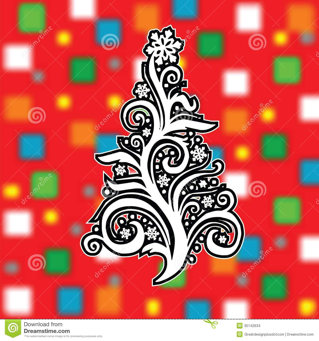 Abstract christmas tree on cool background vector eps10 for Cool christmas art