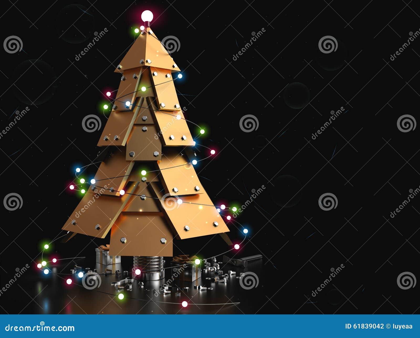 Abstract Christmas Tree, 3D Stock Illustration ...