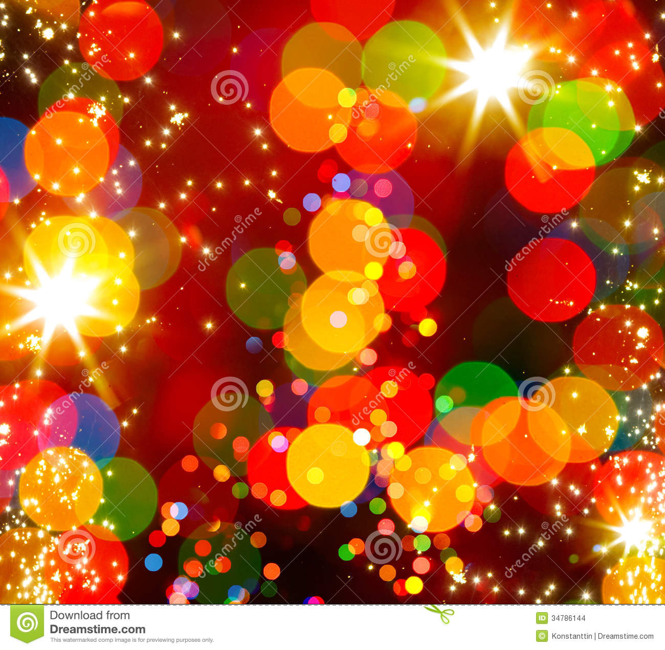 Abstract Background Christmas Light Tree ...