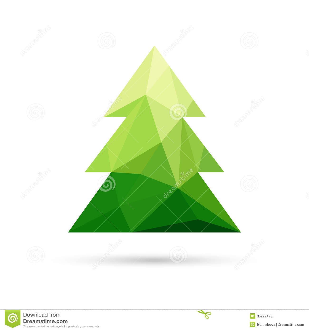Abstract Christmas Tree Made Of Triangles Royalty Free Stock ...