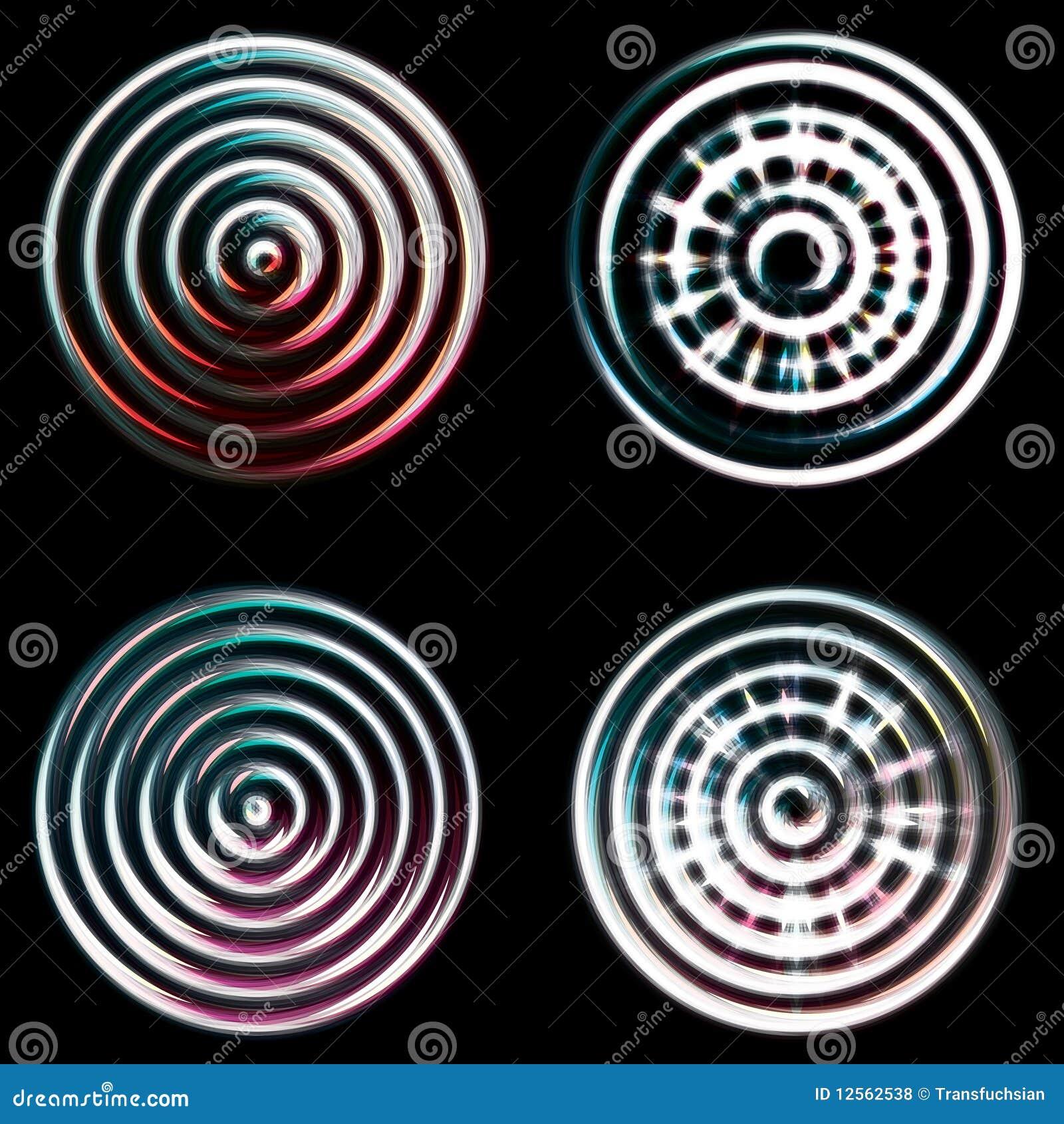 Abstract chrome circles