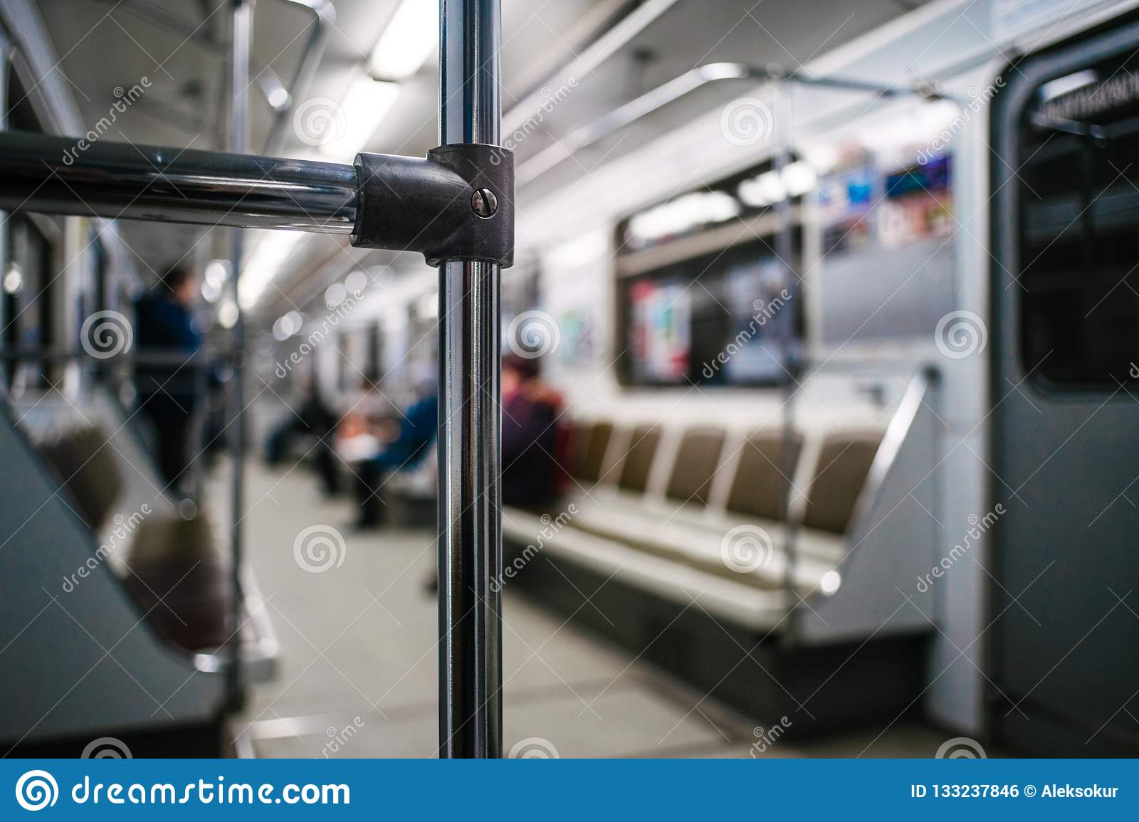 Abstract chrome handrails