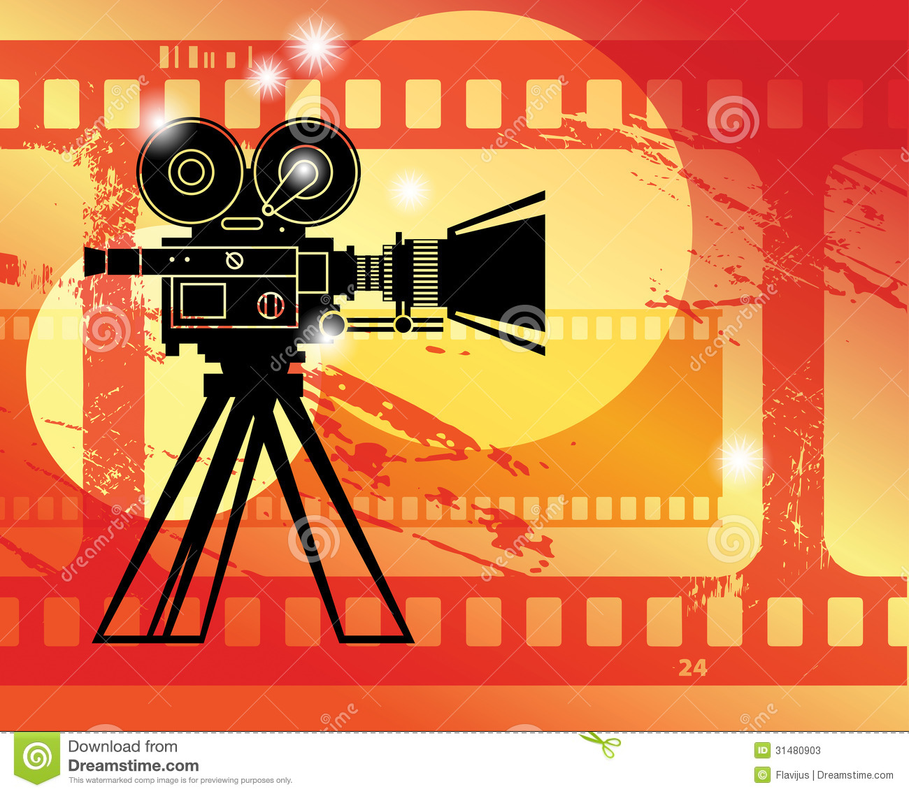 Abstract Cinema Background Stock Photos - Image: 31480903