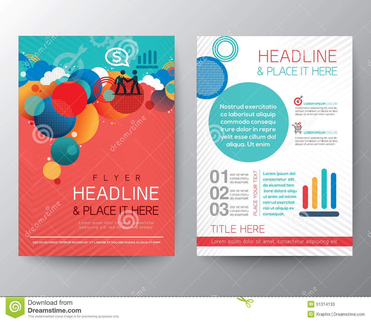 abstract circle design brochure flyer layout template stock vector