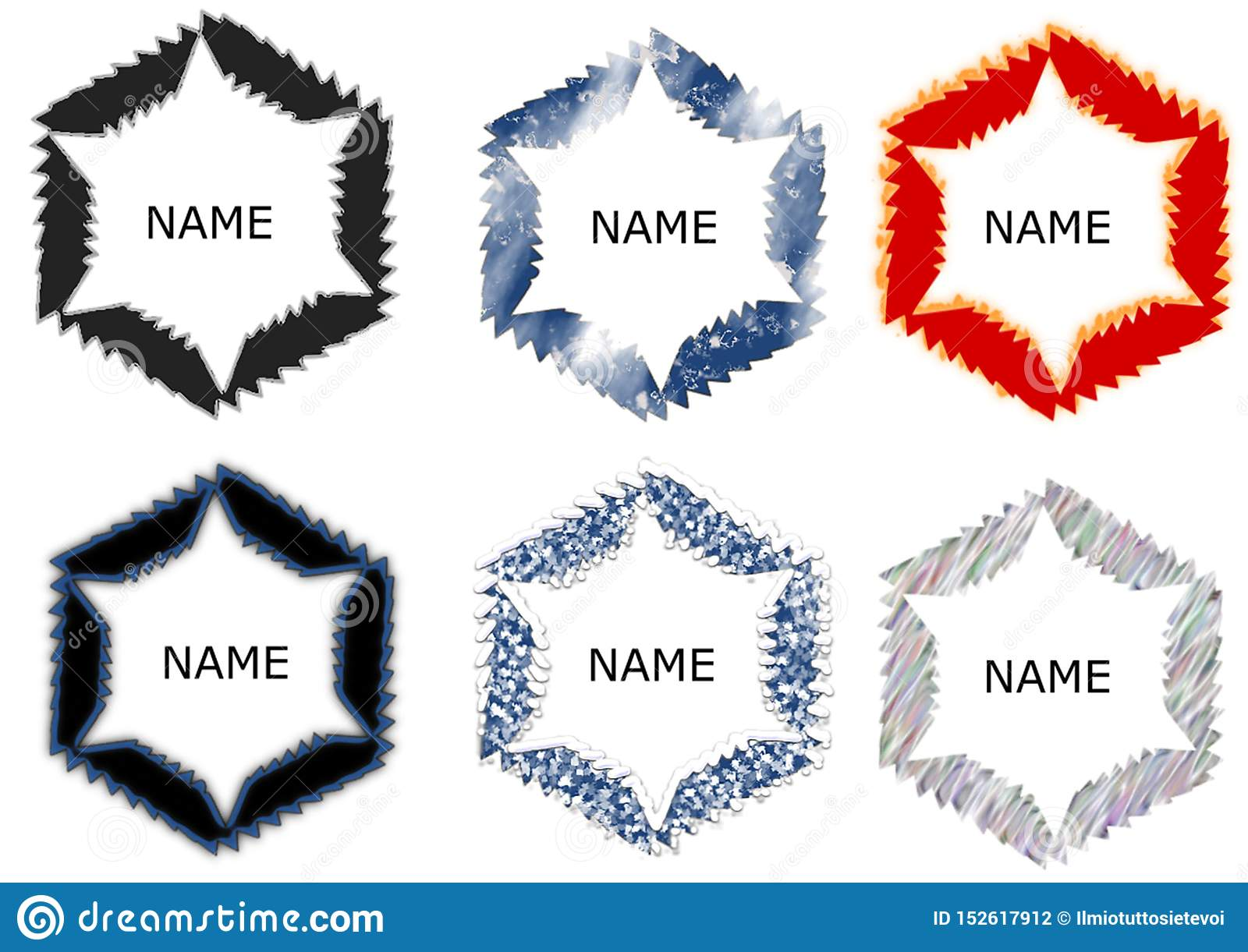 Abstract circle logo template with different patterns
